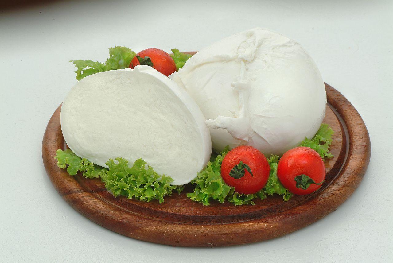 Mozzarella de búfala congelada IQF